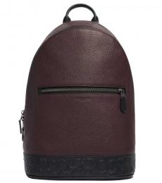 Coach Oxblood West Slim Large Backpack