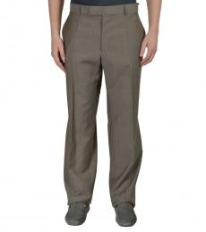 Hugo Boss Olive Wool Dress Pants