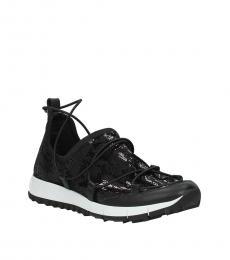 Jimmy Choo Black Glitter Sneakers