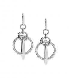 Michael Kors Silver Crystal Orbital Earrings