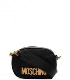 Moschino Black Logo Mini Crossbody