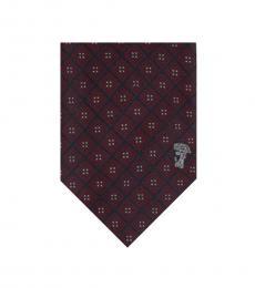 Bordeaux Printed Tie