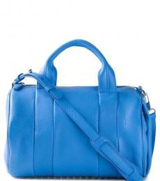 Blue Rocco Large Satchel