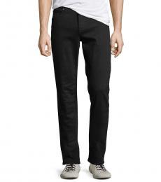 7 For All Mankind Black Standard Straight-Leg Jeans