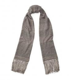 Grey Rugby Long Scarf