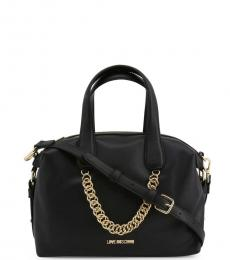 Love Moschino Black Chain Large Satchel
