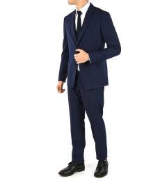 Ermenegildo Zegna Navy Blue Wool Single Breasted Suit