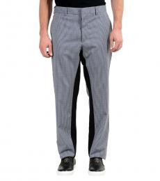 Grey Wool Plaid Dress Pants