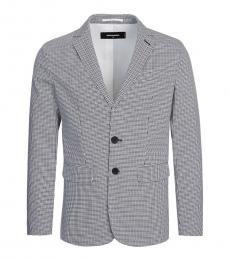 Dsquared2 Grey Single Breasted Blazer