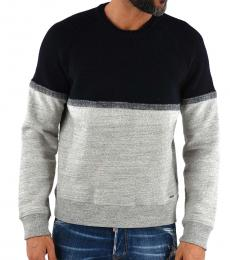Dsquared2 Black Grey Wool Cotton Sweater