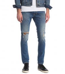 Diesel Blue Tepphar Slim Leg Jeans