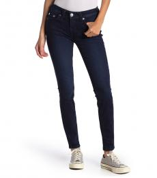True Religion Dark Blue Halle Mid Rise Skinny Jeans