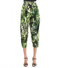 Dolce & Gabbana Multi color Foglie Carrot Pants