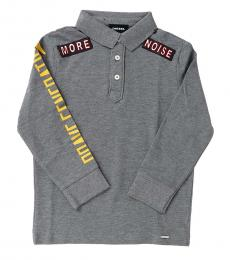 Diesel Little Boys Grey Long Sleeve Polo
