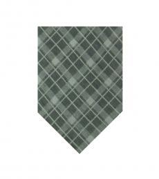Calvin Klein Grey Plaid Classic Tie