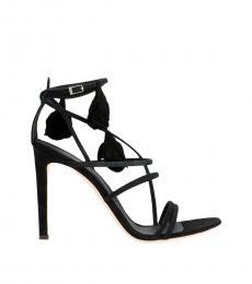 Giuseppe Zanotti Black Basic Ankle Strap Heels
