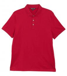 Winter Red Core Metal Polo