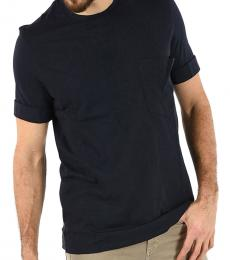 Neil Barrett Dark Blue Pocket Crew-Neck T-Shirt