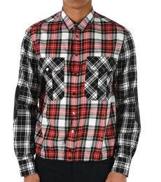 Red Snap Button Checked Shirt