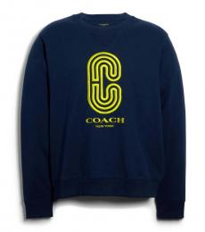 Navy Retro Sport Sweatshirt