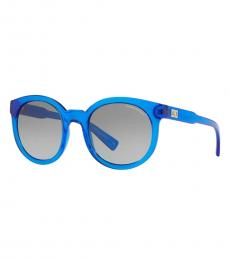 Transparent Blue Gradient Sunglasses