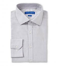 Light Grey Mini Dobby Slim Fit Dress Shirt
