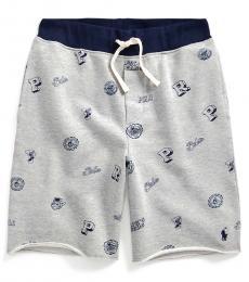 Ralph Lauren Boys Andover Heather Collegiate Twill Terry Shorts