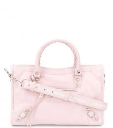 Balenciaga Light Pink City Small Satchel
