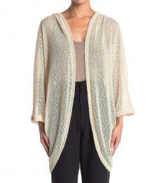 Vince Camuto Taupe Knit Cocoon Cardigan