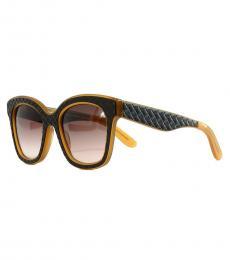 Bottega Veneta Brown Square Oversized Sunglasses