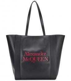 Alexander McQueen Black Logo Large Tote