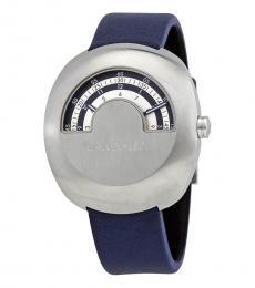 Calvin Klein Blue Glimpse Silver Dial Watch