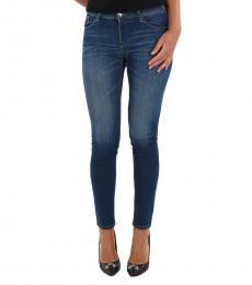 Emporio Armani Denim Stonewashed Skinny Fit Jeans
