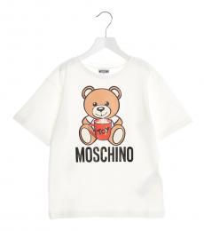 Moschino Little Girls White Teddy Toy T-Shirt
