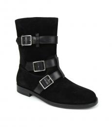 Black Strap Buckles Boots