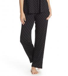 DKNY Black Soft Knit Sleep Pants