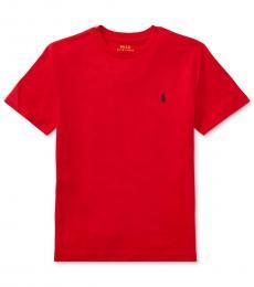 Ralph Lauren Boys Red Logo T-Shirt