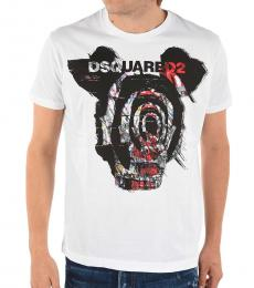 Dsquared2 White Dan Fit Print T-Shirt