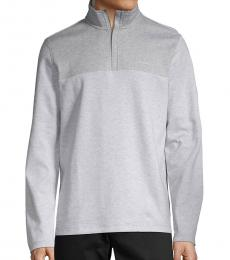 Calvin Klein Grey Logo Cotton Sweatshirt