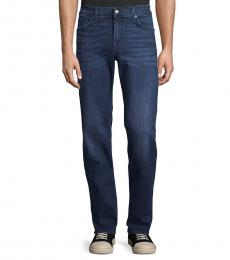 7 For All Mankind Navy Blue Slimmy Straight Jeans