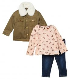 7 For All Mankind 3 Piece Jacket/Top/Jeans Set (Baby Girls)