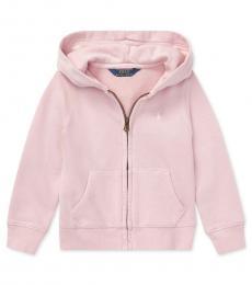 Ralph Lauren Little Girls Hint of Pink French Terry Hoodie