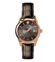 Versace Brown Logo Watch