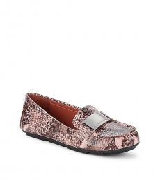 Calvin Klein Pink Lisette Snake Print Loafers