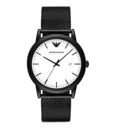 Emporio Armani Black Luigi Mesh Bracelet Watch