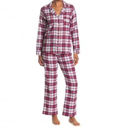 UGG Red Raven Plaid Pajama 2-Piece Set