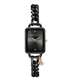 BCBGMaxazria Black Rose Gold Charm Watch