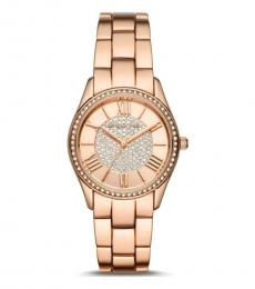 Michael Kors Rose Gold Heather Crystals Watch