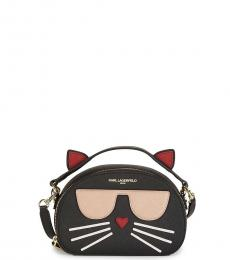 Black Maybelle Choupette Cat Small Crossbody Bag