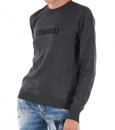 Dsquared2 Gray Crew Neck Logo Sweater